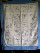 1920's Embroidered Crib Coverlet