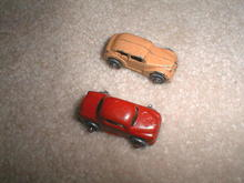 Metal Cars with Metal Wheels, Qty of 2.