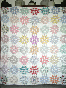 1930's Patchwork Star Quilt -  QLT