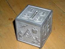 Metal Childs Block Bank