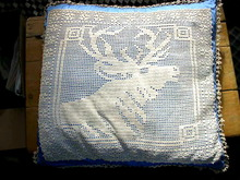 Crochet Elk Pillow