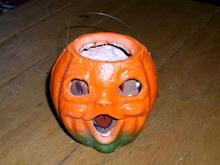 Halloween Paper Mache Jack-O-Lantern