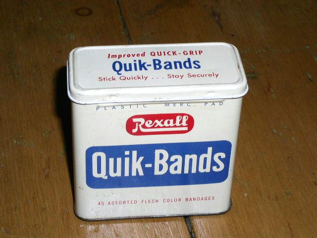 Rexall Quik-Bands Tin