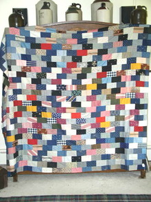 Bricks Patchwork Quilt Top -  QTP