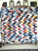 Bricks Patchwork Quilt Top -  QTP