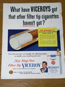Viceroy Filter Top Cigarettes  Advertisement