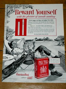 Pall Mall Cigarettes  Advertisement