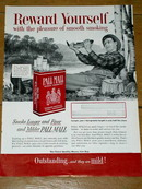 Pall Mall Cigarettes  Advertisement