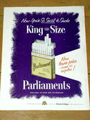 Parliament Filter Tip  Cigarettes  Advertisement