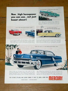 Mercury Cars  Advertisement, 1955