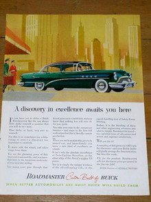 Buick Roadmaster  Advertisement, 1954