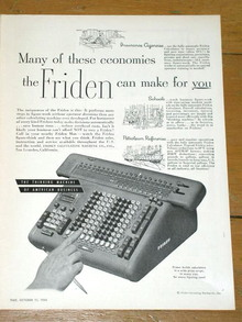 Friden Business Calculators  Advertisement