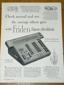 Friden Calculator Advertisement