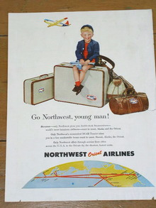 Northwest Orient Airlines  Advertisement
