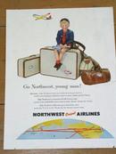 Northwest Orient Airlines  Advertisement
