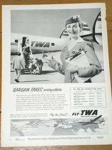TWA Airlines  Advertisement