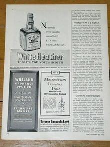White Heather Scotch Advertisement