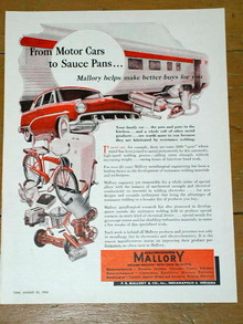 P. R. Mallory & Co. Advertisement