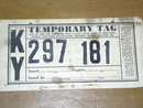 Kentucky Paper License Plate