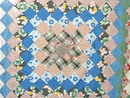 Many Trips Around the World Quilt Top -  QTP - SALE ITEM
