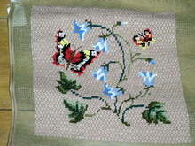 Needlepoint, Butterflys and Bluebells