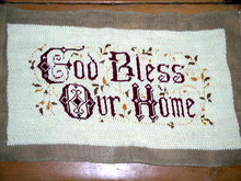 Needlepoint, God Bless Our Home