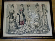 Godey's Magazine Paris Fashion Print