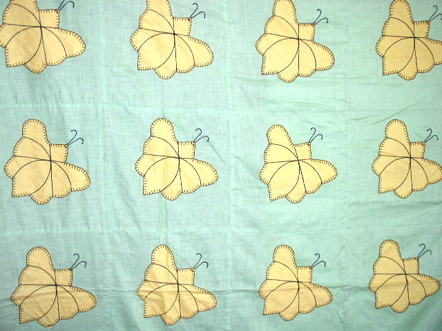 Appliqued Butterfly Quilt Top -  QTP
