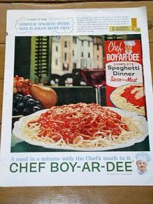 Chef Boy-Ar-Dee Advertisement