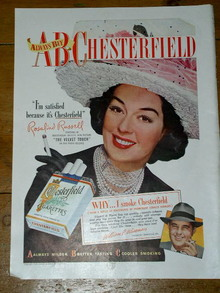 Chesterfield Cigarettes  Advertisement