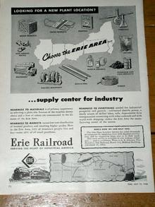 Erie Railroad  Advertisement