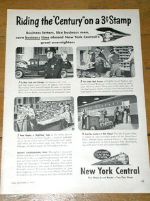 New York Central Railroad System Advertisement