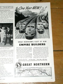 Great Northern Railroad  Advertisement