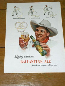Ballantine Ale Advertisment