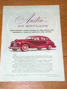 Austin Automobile  Advertisement