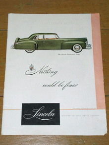 Lincoln Automobile  Advertisement