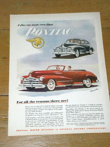 Pontiac Automobile  Advertisement
