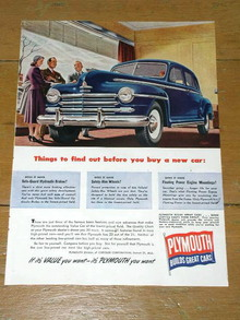 Plymouth Automobile  Advertisement