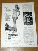 Valvoline Motor Oil  Advertisement