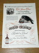 OLd Crow Whiskey Advertisement