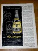 Gaelic Old Smuggler Whiskey Advertisement