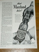 Maryland National Premium Beer Advertisement