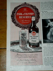 Park & Tilford Whiskey Advertisement