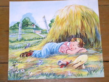 Nursery Rhyme Illustration, 1943, Little Boy Blue