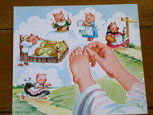 Nursery Rhyme Illustration, 1943, Little Pig went to Market