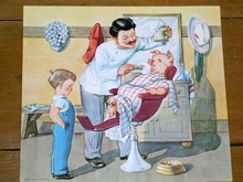 Nursery Rhyme Illustration, 1943, Barber Barber Shave A Pig