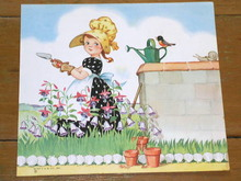 Nursery Rhyme Illustration, 1943. Mistress Mary Quite Contrary