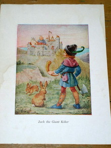 Nursery Rhyme Illustration, 1940, Jack the Giant Killer