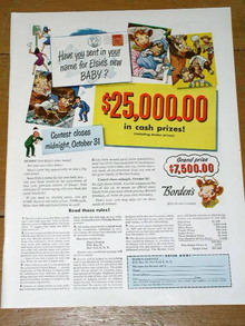 Elsie's Name The Baby Contest Advertisement