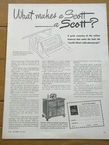 Scott Radio-Phonograph  Advertisement